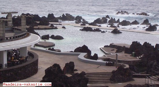 The natural swimming pools in Porto Moniz, Madeira